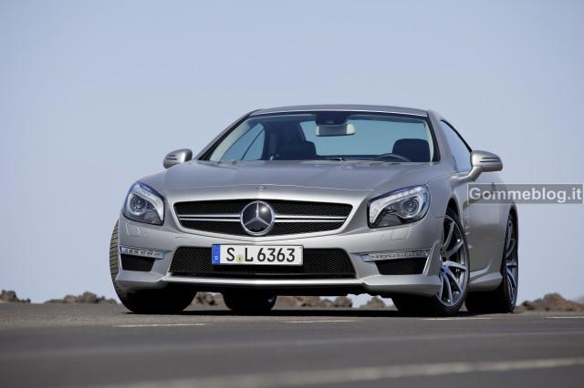 Nuova Mercedes SL 63 AMG 2012: prestazioni superiori, peso e consumi ridotti