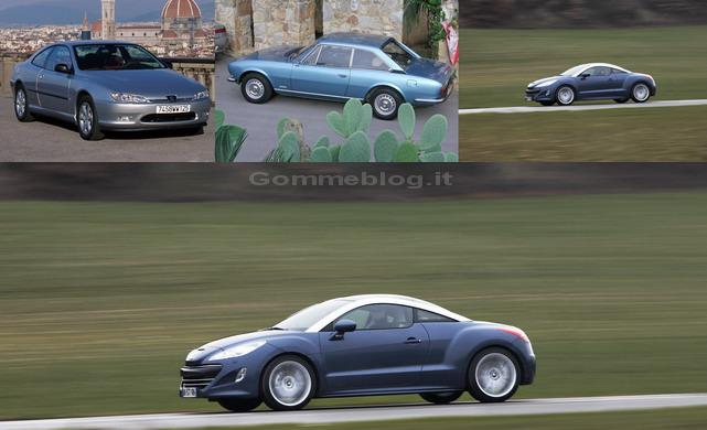 Peugeot ad Automotoretrò: dalla 504 coupé alla RCZ