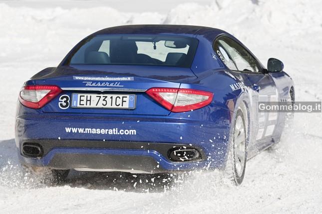 Test pneumatici invernali 2012: equipaggiamento misto al posteriore