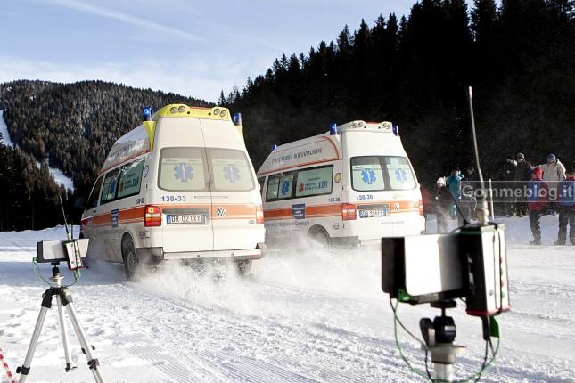 Test Pneumatici invernali 2012: la frenata di Emergenza Con Mezzi Di Soccorso