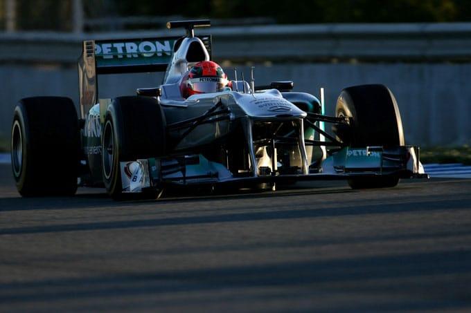 Formula 1 2012:  Schumacher stamani è il più veloce a Jerez
