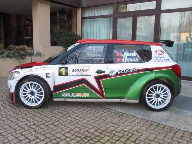Luca Rossetti nel Campionato Rally Turco con la Skoda Fabia S2000 2