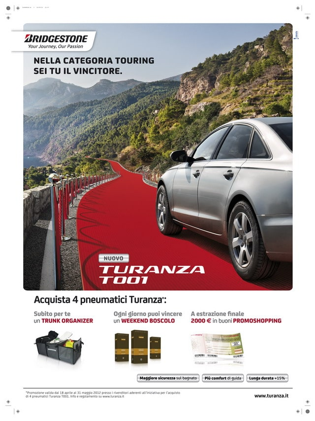 Bridgestone regala splendidi week end agli automobilisti