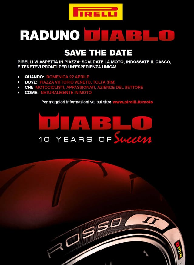 Pneumatici Moto: Pirelli festeggia i 10 anni Diablo ai raduni Diablo 2012