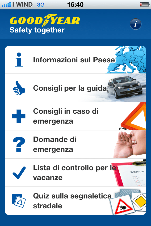 Sicurezza Stradale: Goodyear Road Safety App 1