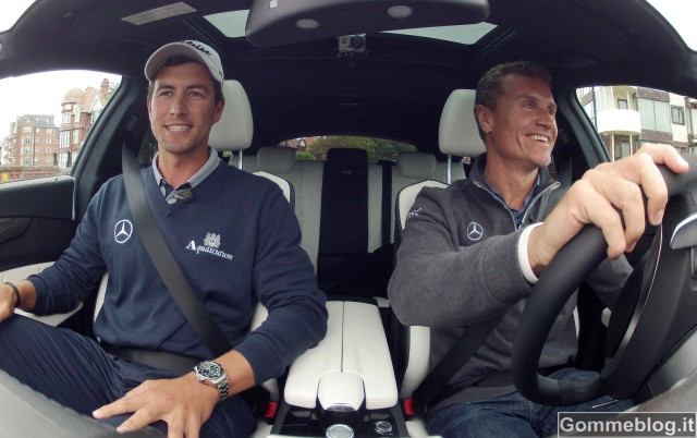 Adam Scott e David Coulthard sul green con la nuova CLS 63 AMG Shooting Brake
