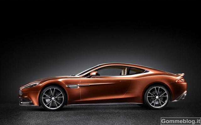 La nuova Aston Martin AM 310 Vanquish calza pneumatici Pirelli P Zero