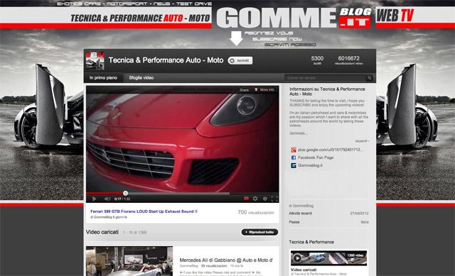 Gommeblog.it: 6 milioni di visite sul nostro canale YouTube 1