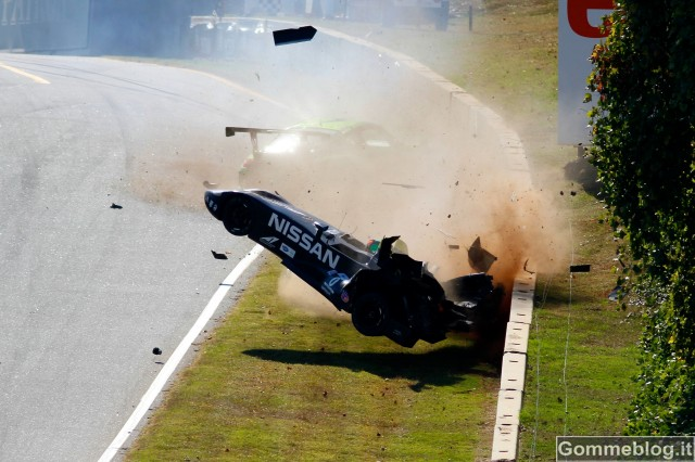 Video Incidente Nissan Deltawing nei Test a Road Atlanta 2012 4