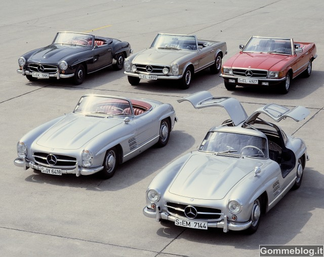 Mercedes-Benz SL: 60 anni sulle 'Ali di Gabbiano'