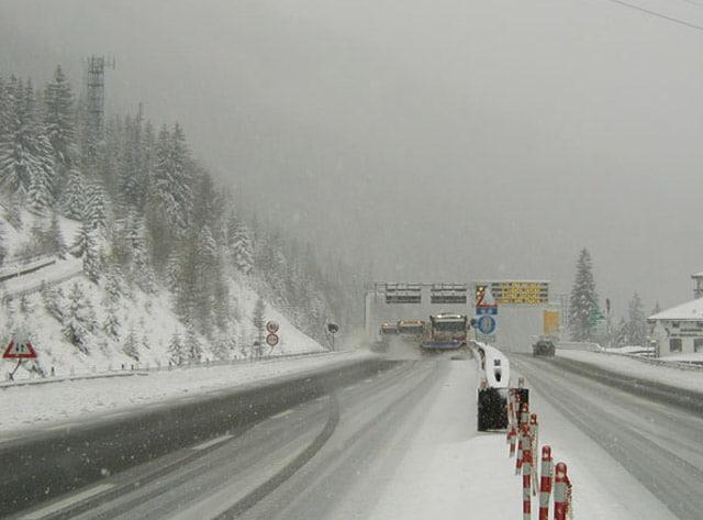 Autostrada Brennero: Ordinanze Pneumatici Invernali