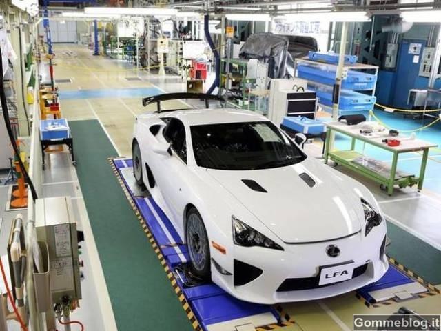 Lexus LFA: prodotto l'ultimo 500° esemplare