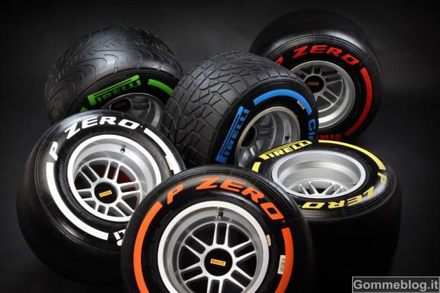 F1 2013: Pirelli annuncia le mescole per le prime 4 gare della stagione