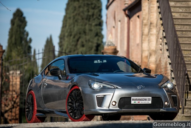 "Toyota GT86-R Marangoni Eco Explorer: pneumatici Marangoni ""M-Power EvoRed"""