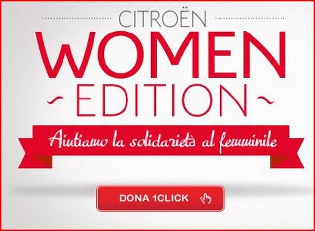 Citroën Women Edition: basta un click per aiutare un progetto solidale