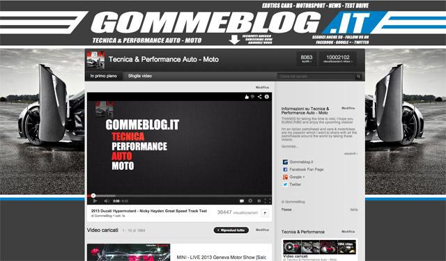 Gommeblog.it: 10 milioni di visite sul nostro canale YouTube