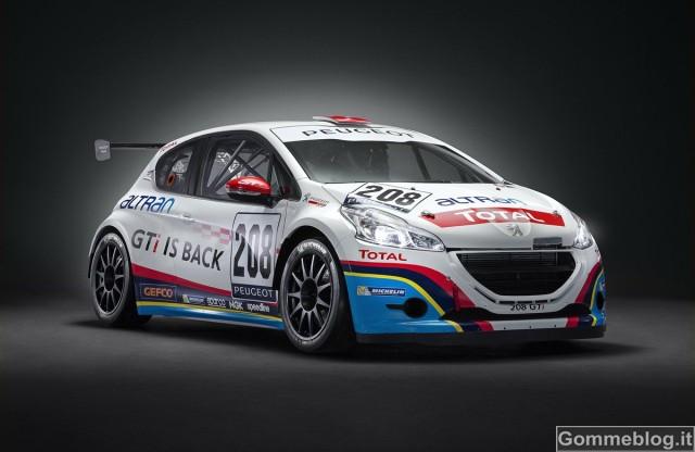 208 GTi Peugeot Sport: 300 CV per la 24 Ore del Nürburgring 2013