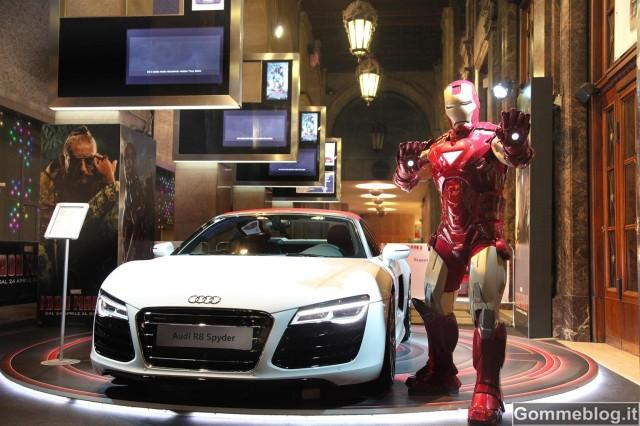 """Audi R8 e-tron nell'anteprima italiana di """"Iron Man 3"""""""