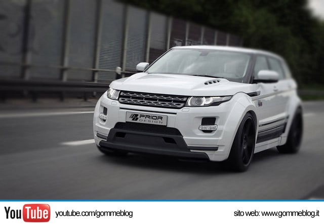 Tuning Range Rover Evoque Prior Design: Gomme da 22 e Kit Extra Large