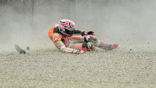 Incidente Marc Marquez al Mugello: il VIDEO