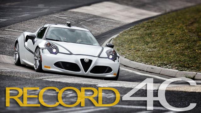 """Alfa Romeo 4C: solo 8'04'' per completare """"l'inferno verde"""" del Nürburgring [VIDEO]"""