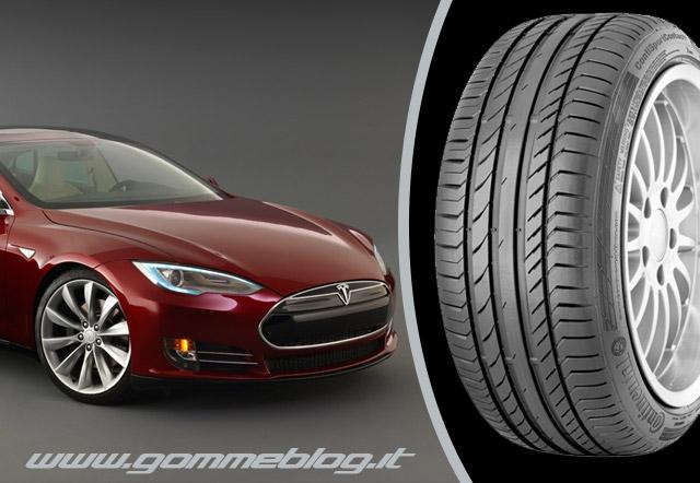 Auto elettriche Tesla premia le Gomme Continental