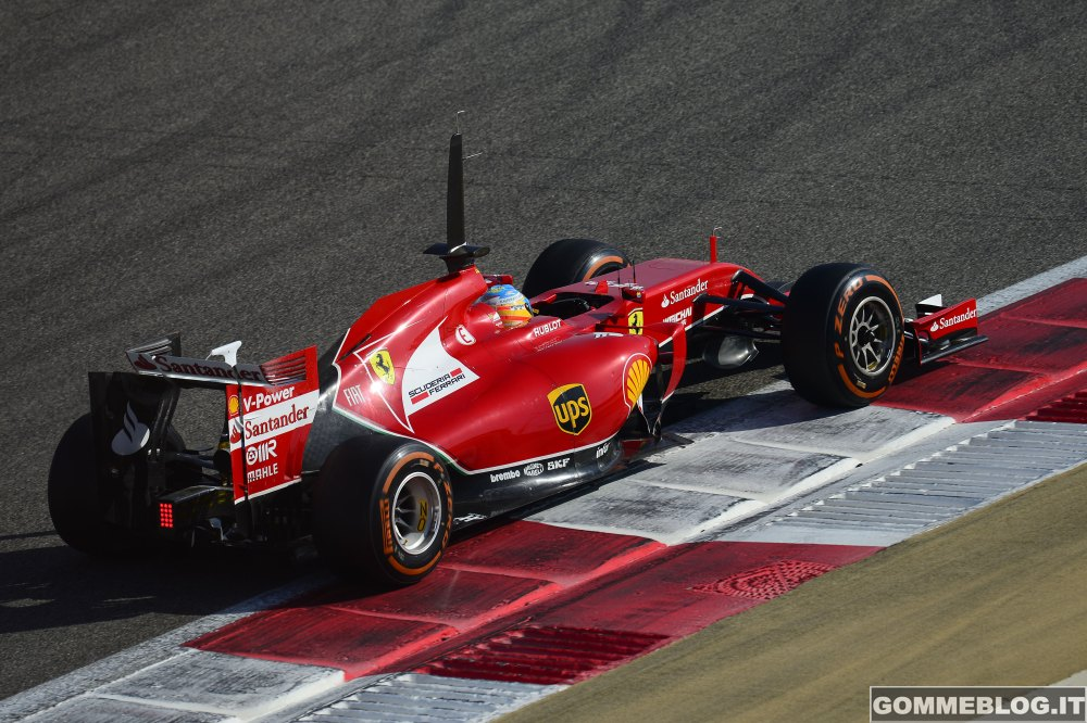 Ferrari F14 T: Test su Pneumatici ed assetto per Alonso