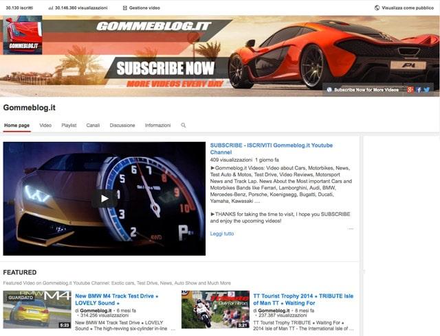Gommeblog.it FESTEGGIA 30 Milioni di visite sul Canale YouTube