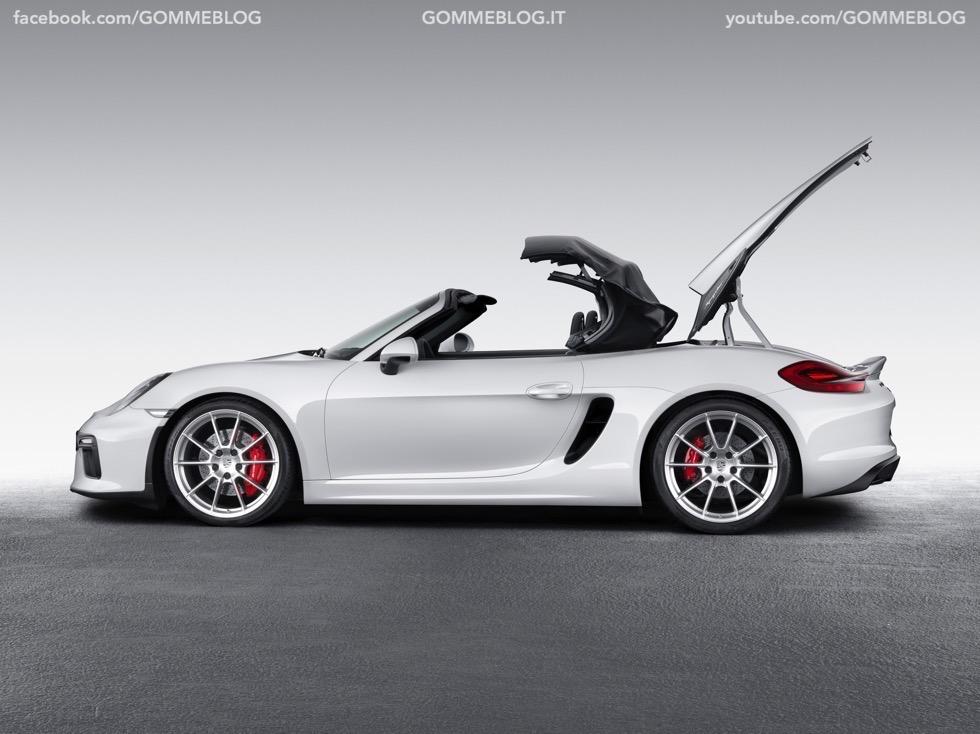 Porsche Boxster Spyder: 375 CV e componenti 911 Carrera 6