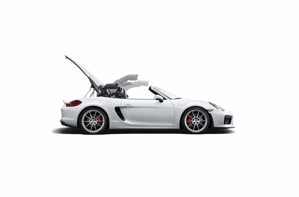 Porsche Boxster Spyder: 375 CV e componenti 911 Carrera 4