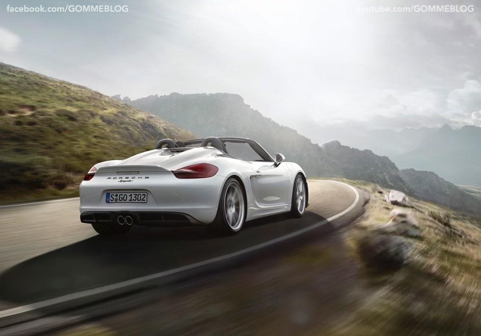 Porsche Boxster Spyder: 375 CV e componenti 911 Carrera 3
