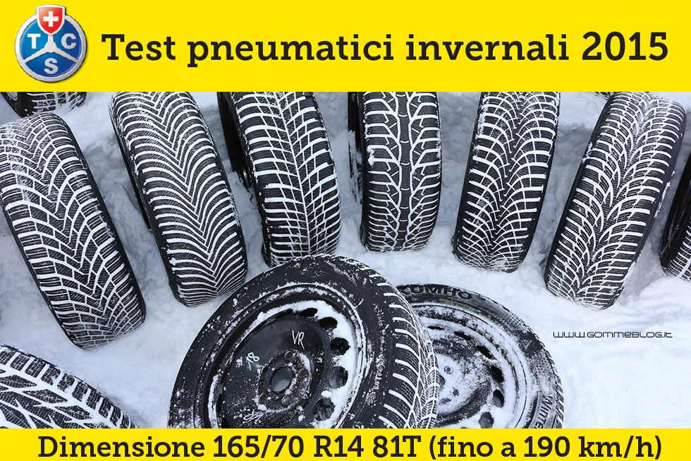 Pneumatici Invernali 2015 Test TCS: Misura 165/70 R14 81T 3