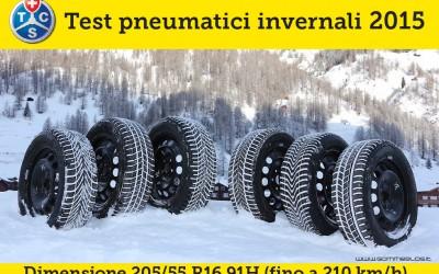 Pneumatici Invernali 2015 Test TCS: Misura 205/55 R16 91H