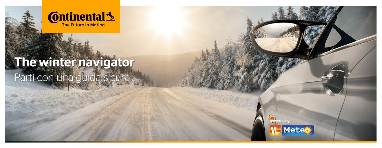 Continental ed ilMeteo.it: Focus congiunto sugli Pneumatici Invernali