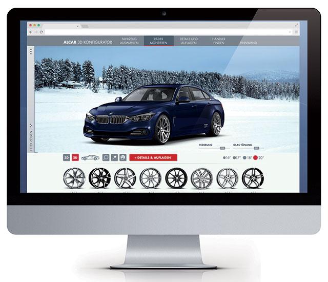 Alcar: Online il Nuovo Configuratore …. Non solo cerchi in Lega