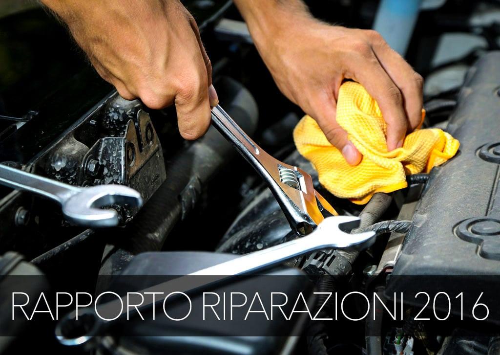 Riparazioni Auto: Tutti i Prezzi ed Interventi. Rapporto 2016