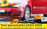 Gomme Auto Estive TEST TCS 2016: I Migliori Pneumatici 225/45 R17 94Y