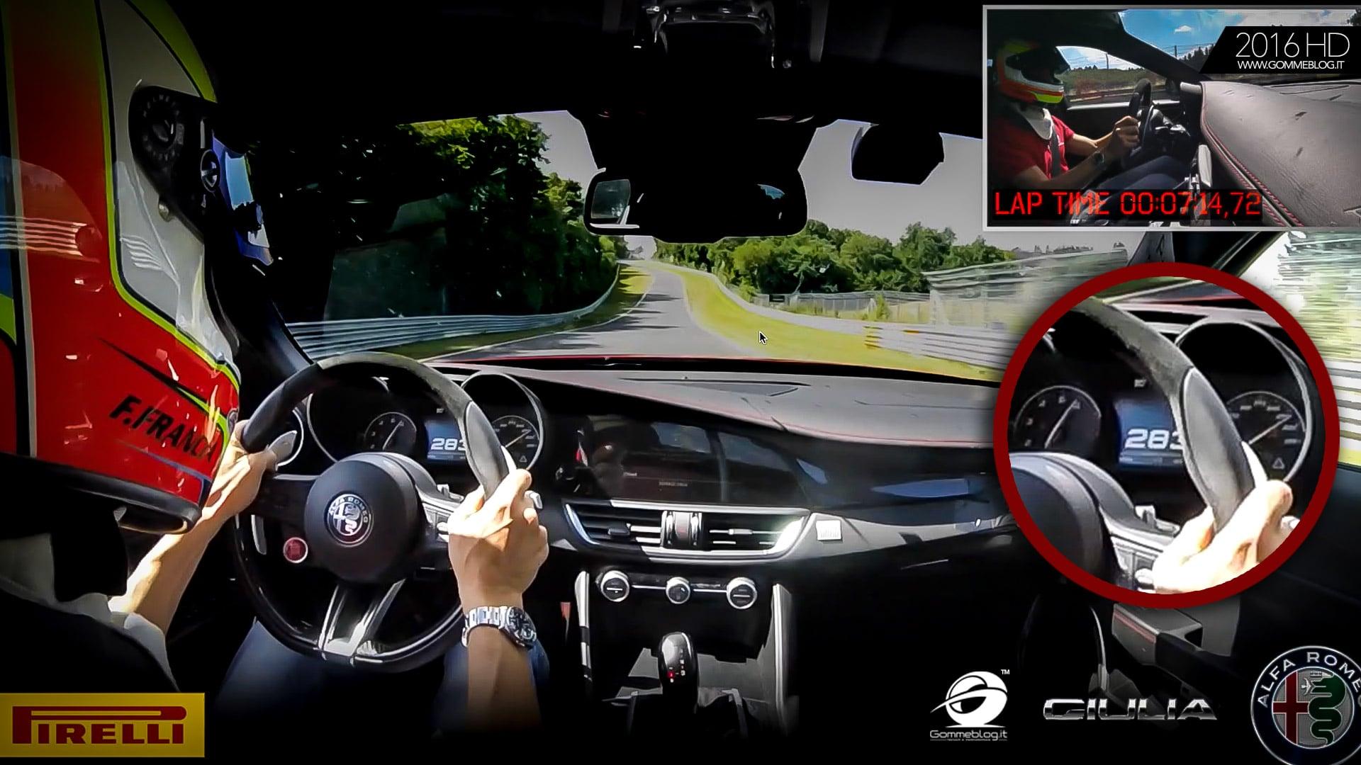"""Alfa Romeo Giulia Quadrifoglio RECORD Nurburgring: GIRO COMPLETO 07'.32"""" – [VIDEO]"""