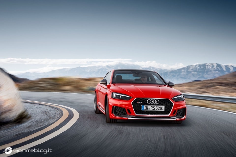 Audi RS 5 Coupé: V6 biturbo 2.9 TFSI, 450 CV e 0-100 in 3,9 sec