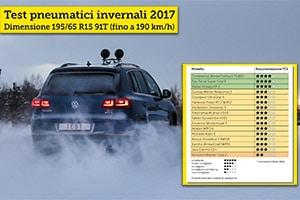 Test 2017 Pneumatici Invernali TCS: 195/65 R15 91T