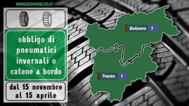 Ordinanze Pneumatici Invernali 2017: TRENTINO-ALTO ADIGE/SüDTIROL 1