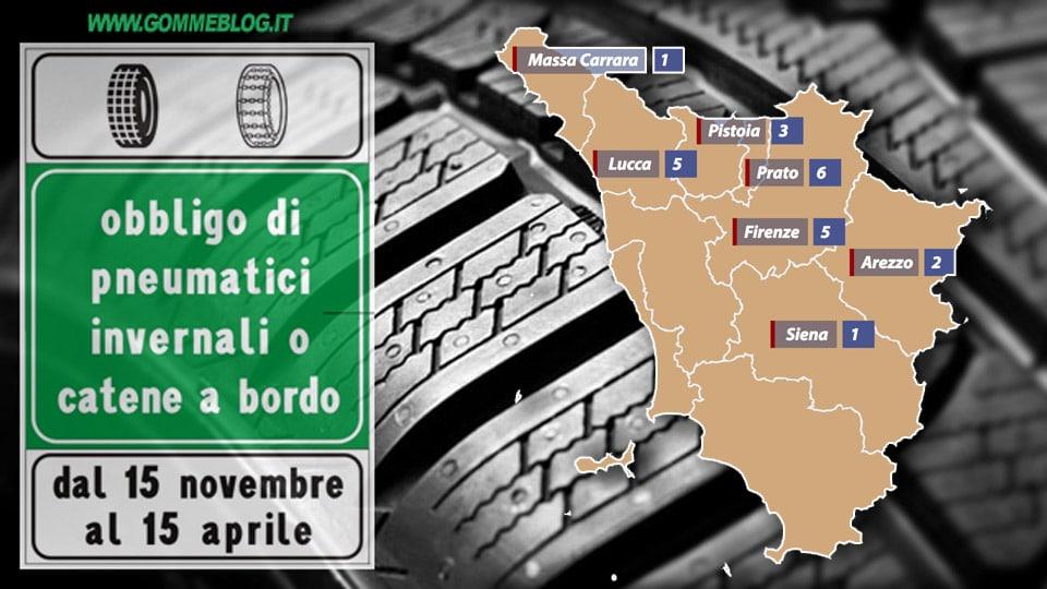 Ordinanze Pneumatici Invernali 2017: TOSCANA