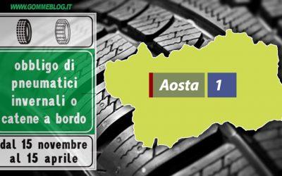 Ordinanze Pneumatici Invernali 2017: VALLE D'AOSTA