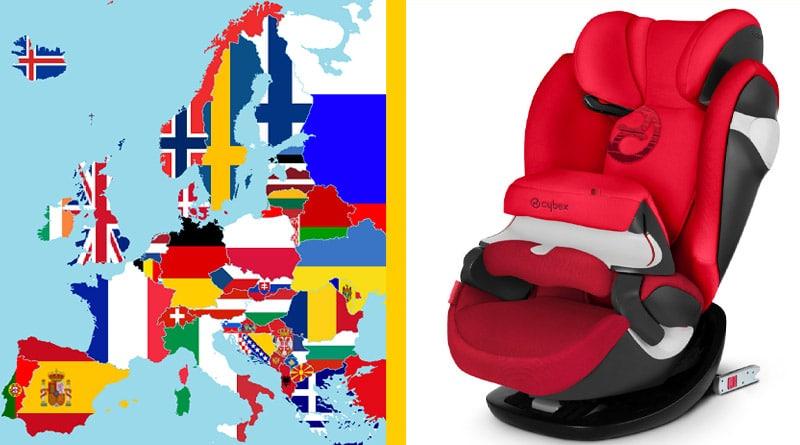 Sicurezza in Auto: Seggiolini Bambini, Come funziona in Europa 6